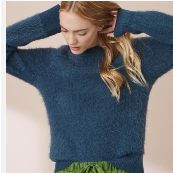 8e086ab084 Lou & Grey Sweaters | Lou Grey Teal Eyelash Sweater | Poshmark